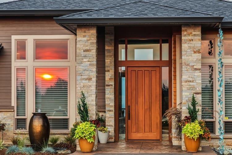 Large Light Brown Modern Exterior Window Trim