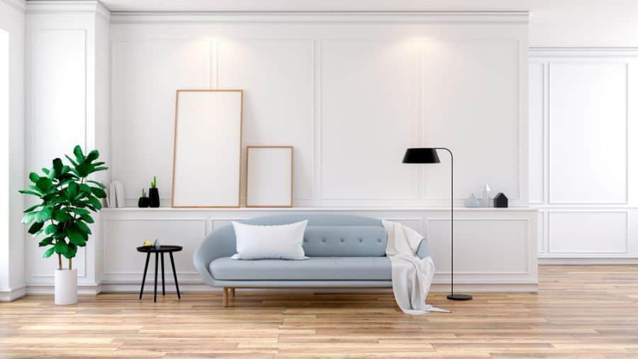 Large Luxury Interior Home Mid Century Modern Living Room 2