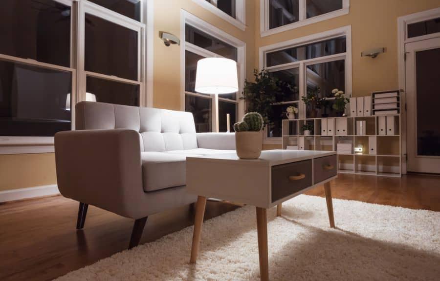 Large Luxury Interior Home Mid Century Modern Living Room 3