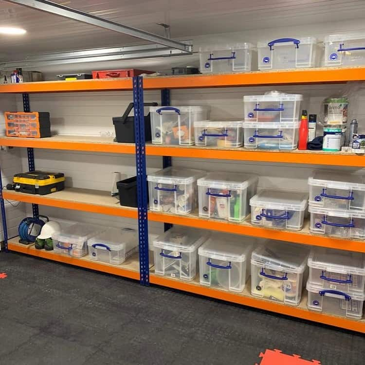 Large Orange Garage Shelf Rackingsolutions