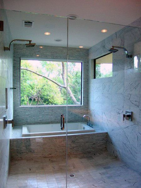 Large Picture Window Shower Ideas