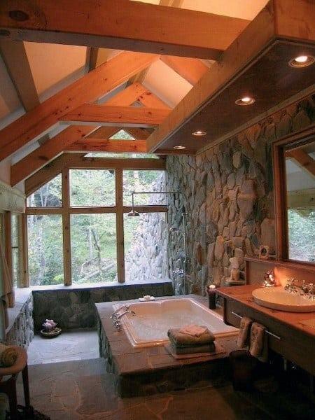 Large Rustic Bathroom Ideas