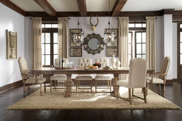 Large Rustic Dining Room Ideas