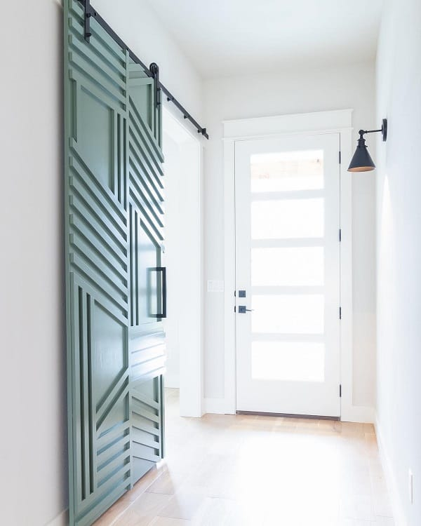 Large Single Modern Barn Door