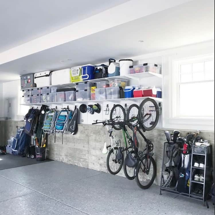 Large Space Wall Mounted Garage Shelves Craftedorganizing