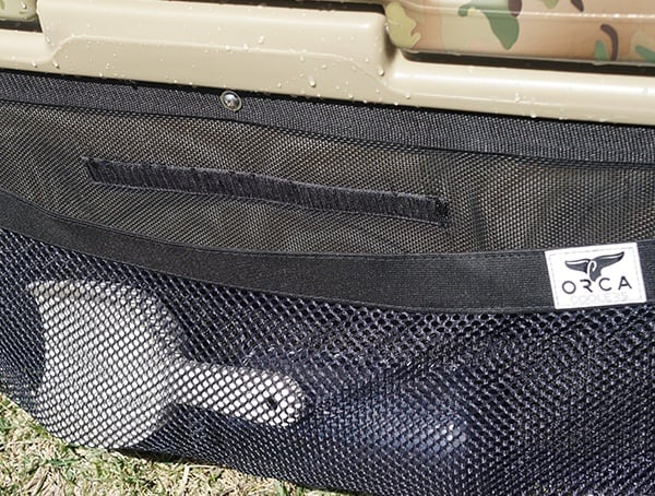 Large Strech Rear Mesh Pocket On Orca Cooler