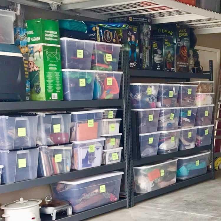 Large Transparent Bin Basement Storage