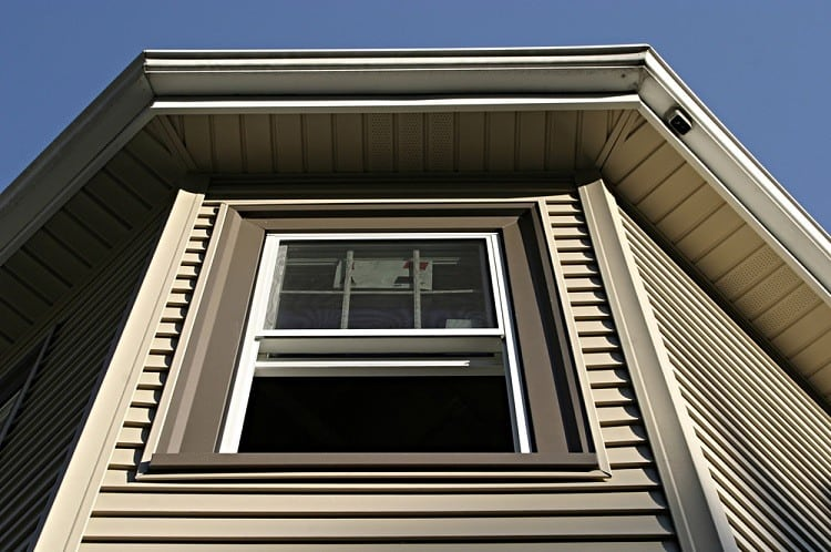 Large White And Brown Exterior Window Trim For Vinyl Siding