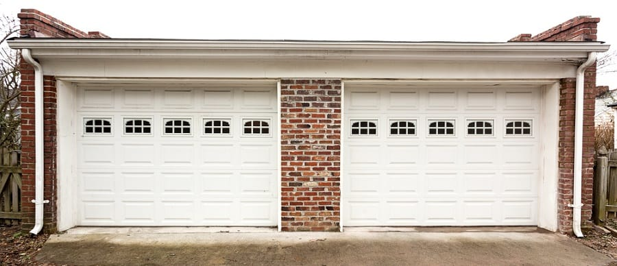 Light And Dark Stained Wood Garage Door Ideas