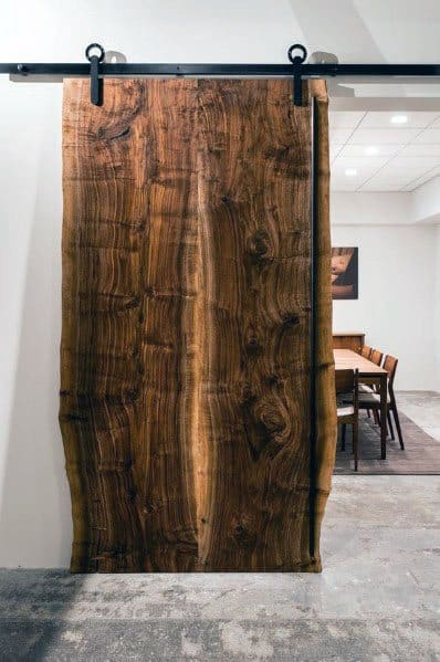 Large Wood Slab Live Edge Barn Door Ideas