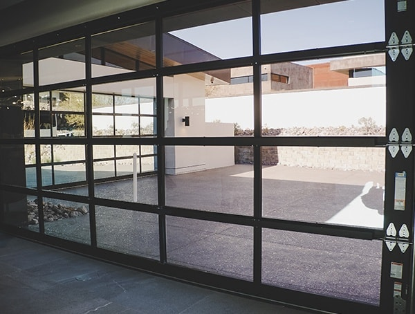 Las Vegas Nevada 2019 New American Home Glass Garage Door Panels