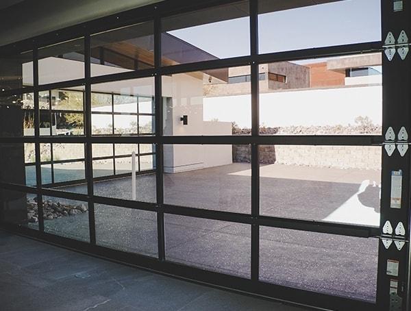 Las Vegas Nevada 2019 New American Home Glass Garage Door Panels