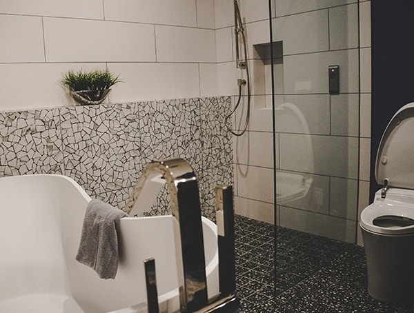 Las Vegas Nevada 2019 New American Home Guest Bathroom Shower