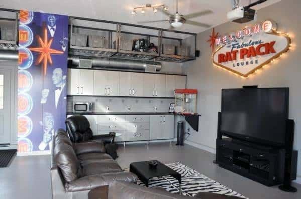 Las Vegas Themed Cool Man Cave Garage Ideas