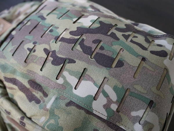 Laser Cut Molle Front Panel Lue Force Gear Tracer Backpack