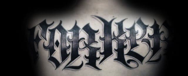 Last Name Tattoos For Men