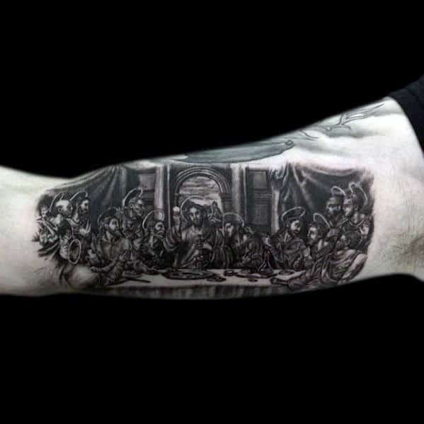 Last Supper Jesus Mens Arm Tattoos