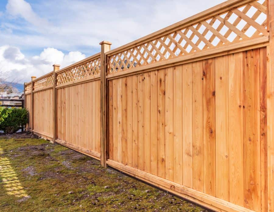 Lattice Wood Fence Ideas (1)
