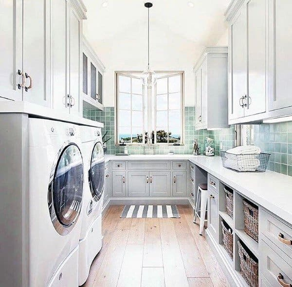 Top 50 Best Laundry Room Ideas - Modern And Modish Designs on Laundry Cabinets Ideas  id=18962