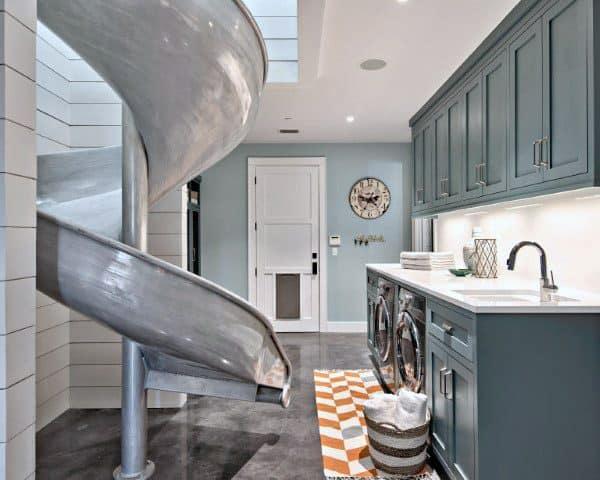 Laundry Room Indoor Slide Ideas