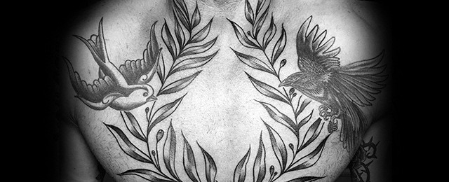 Laurel Wreath Tattoo Designs For Men