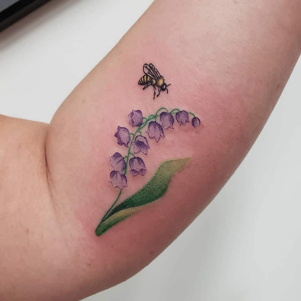 Lily of the valley tattoo simple
