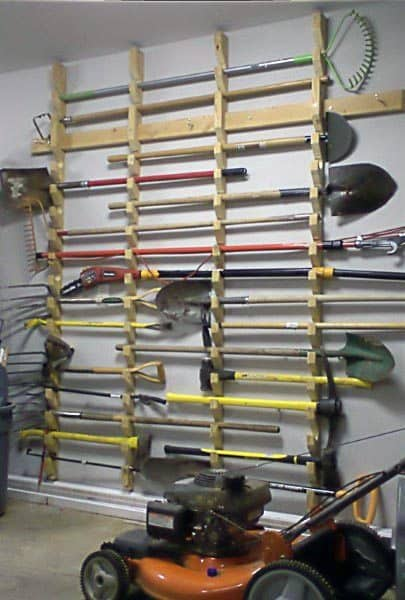 Lawn Tool Storage Ideas