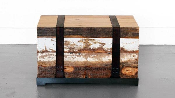 Leather Bound Man Cave Decor Chest