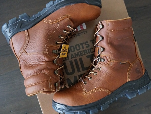 Leather Carhartt Made In The Usa 8 Inch Composite Toe Work Boots For Men
