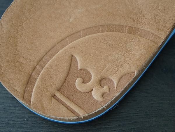 Leather Crown Detail Embossed Mens Hari Mari Sandals Peter Millar