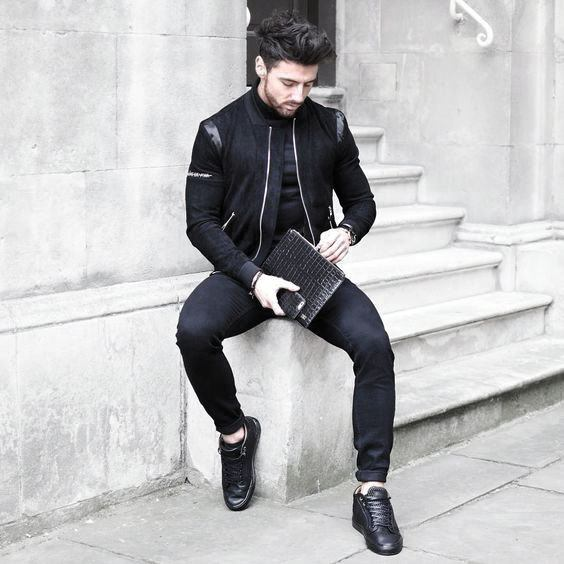 Leather Jacket All Black Outfits Mens Fashion Ideas