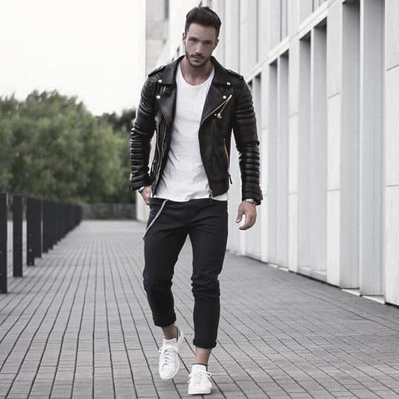 Leather Jacket White Shirt What To Wear With Black Jeans Outfits Outfits  For Men