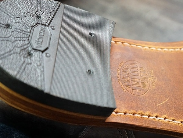 Leather Outsole Stacked Leather Heel Wolverine Addison 1000 Mile Boots Review