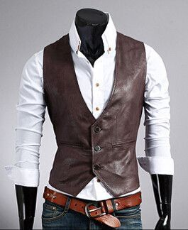 eather vest men business casual