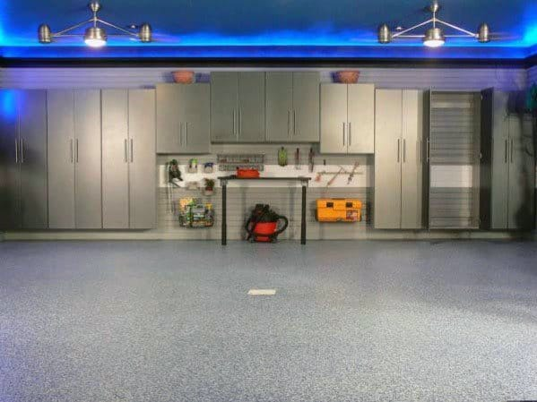 Led Blue Garage Ceiling Ideas