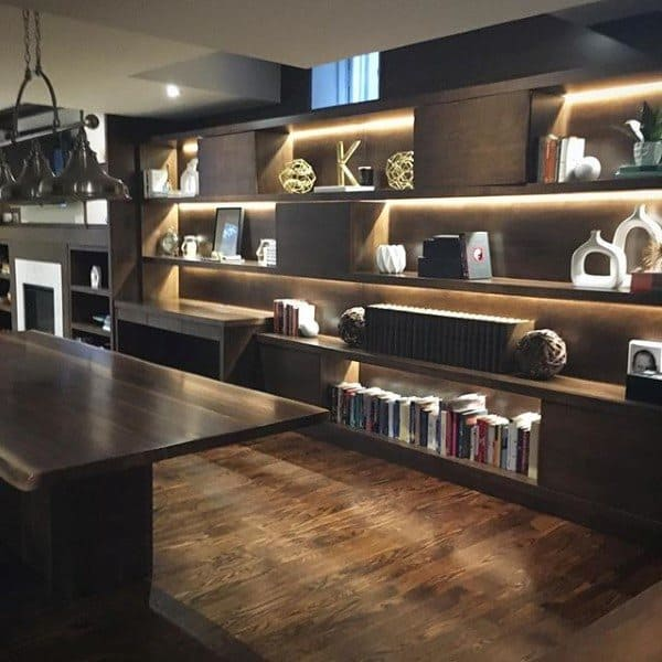 Led Bookcase Wood Desk Ideas