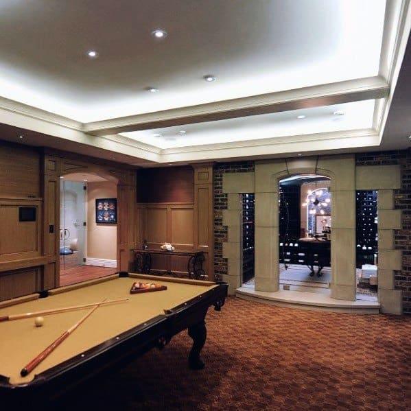 Led Ceiling Lighting Ideas Billiards Room