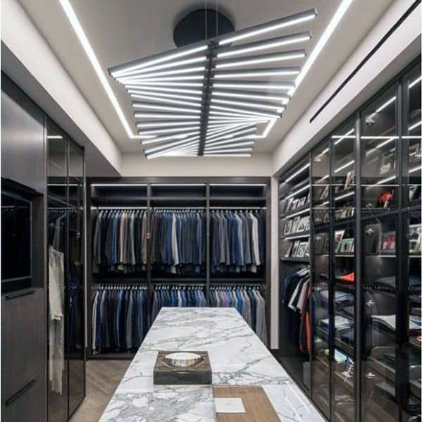 Basement Layout Design Ideas: Top 50 Best Closet Lighting Ideas