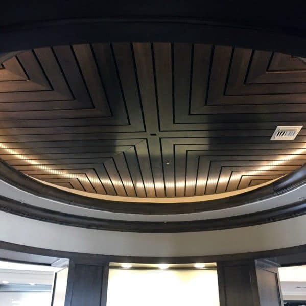 Led Circular Pattern Wood Ceiling Ideas