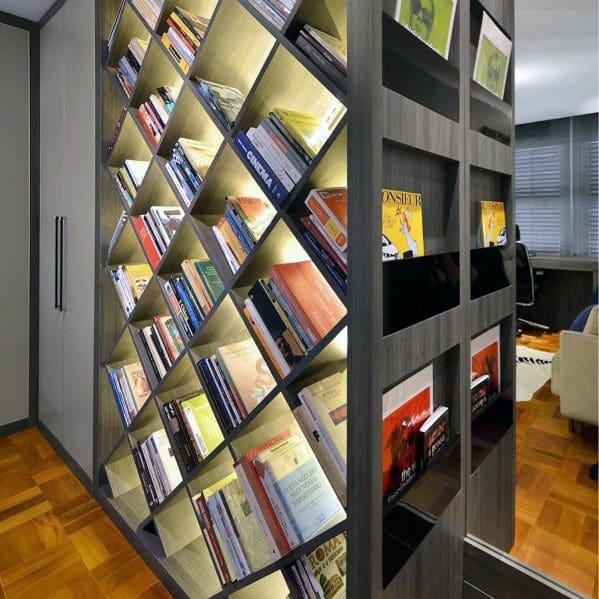 Led Floor To Ceiling Bookshelves Lighting Ideas