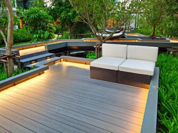 Led Ground Border Deck Lighting Ideas