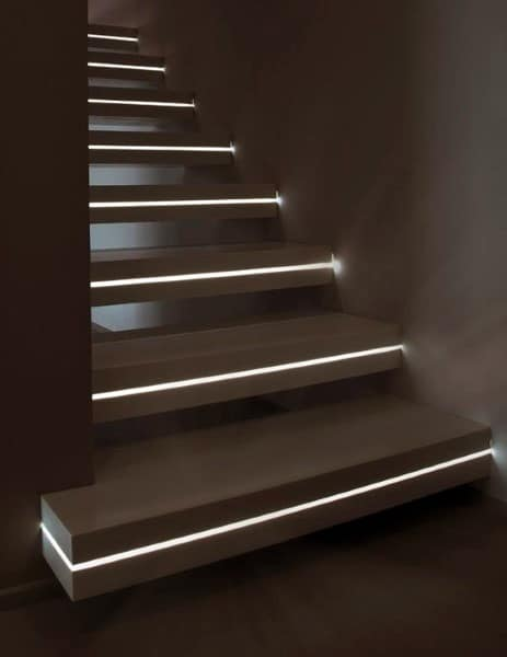 Superior Led Inside Of Steps Staircase Ideas
