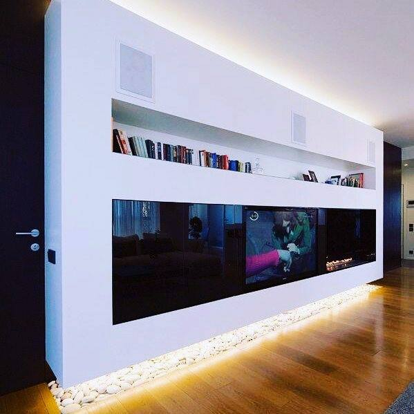 Led Lighting Amazing Television Wall Interior Design