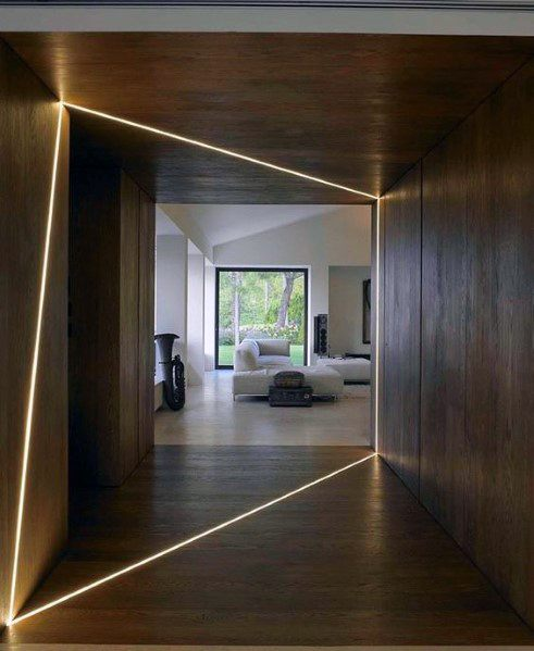 Led Lighting Architectural Modern Wood Wall Ideas