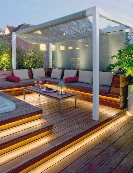 Led Lighting Deck Backyard Ideas