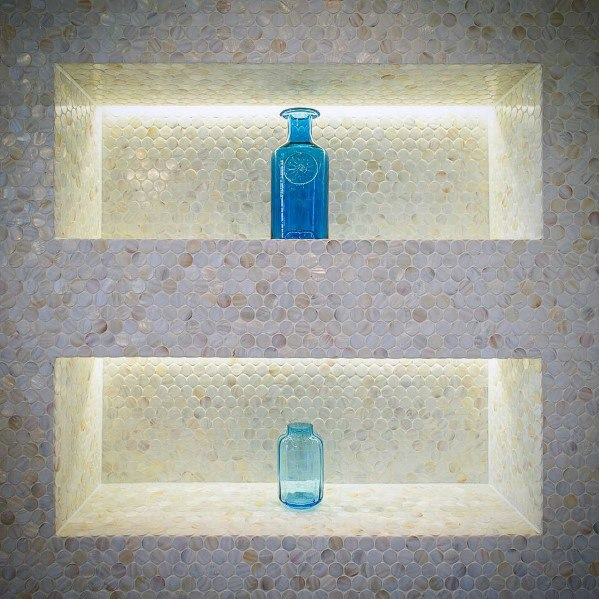 Led Lighting Double Home Bathroom Designs Shower Niche
