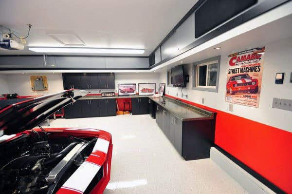 50 Garage Lighting Ideas For Men - Cool Ceiling Fixture Designs on led aquarium lighting ideas, garage interior wall paint ideas, led tv lighting ideas, led cabin lighting ideas, led car lighting ideas, led cove lighting ideas, interior lighting ideas, led roadway lighting ideas, basement family room lighting ideas, led driveway lighting ideas, home garage shop ideas, led ceiling fan ideas, led boat lighting ideas, led fixtures for garage, led garage flooring, led living room lighting ideas, led cabinet lighting ideas, recessed lighting ideas, led workshop lighting, led backyard lighting ideas,