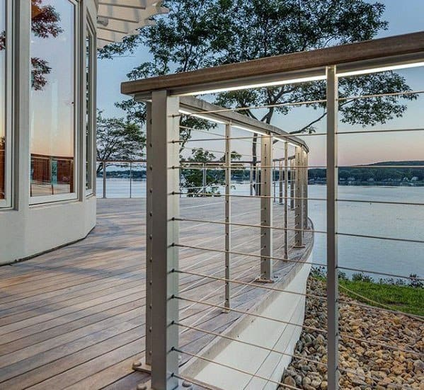 Led Lighting Ideas For Metal Deck Railing Backyard