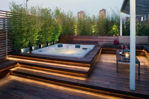 Led Lighting Strips Deck Steps Cool Backyard Ideas