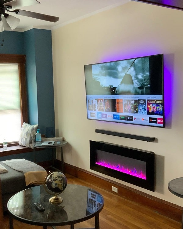 Led Lighting Tv Wall Fireplace Surround Rj Installations